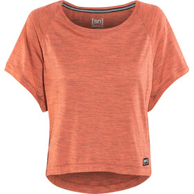 super.natural Motion Peyto Maglia a maniche corte Donna, blooming 3d